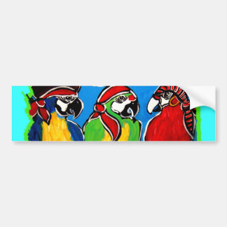 PIRATE PARROTS BUMPER STICKER