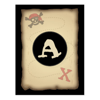 Pirate Party Flag Bunting Banner Post Card