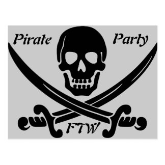 Pirate Party - FTW Post Cards