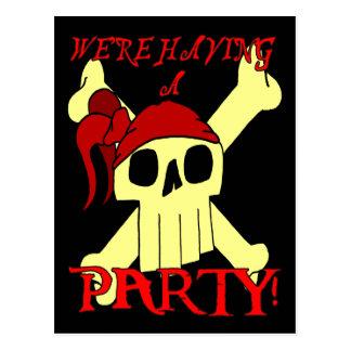 PIRATE PARTY INVITATION POSTCARD