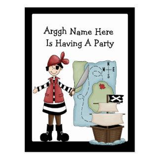 Pirate Party Invitations Postcard