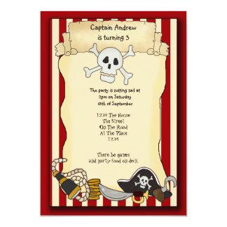 """Pirate Party Invite 5"""" X 7"""" Invitation Card"""