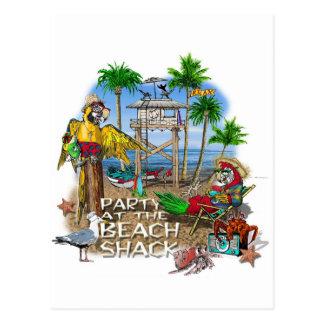 Pirate Party Parrots Party Postcard