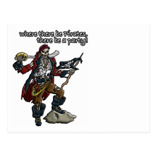 Pirate Party Post Card