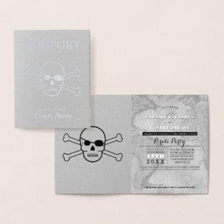 Pirate Party Silver Foil Passport Foil Card