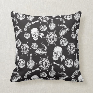 Pirate pattern throw pillow