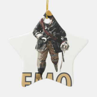 Pirate 'Peg Leg' Lemon Christmas Ornament