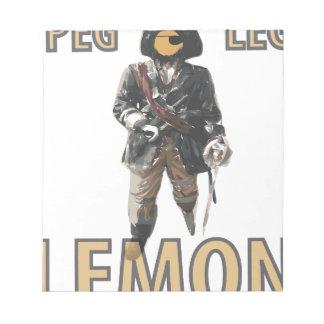 Pirate 'Peg Leg' Lemon Notepad