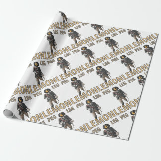 Pirate 'Peg Leg' Lemon Wrapping Paper