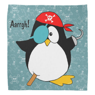 Pirate Penguin Bandana