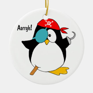 Pirate Penguin Christmas Ornament