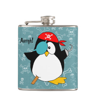 Pirate Penguin Hip Flask