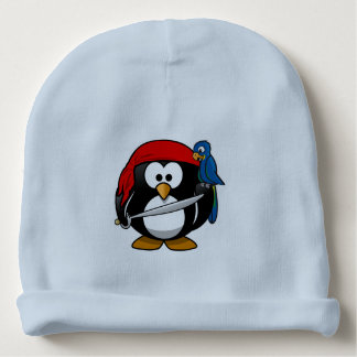 Pirate penguin parrot baby beanie
