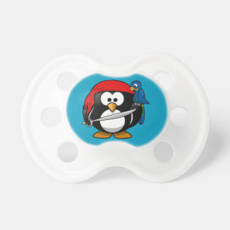 Pirate penguin parrot baby pacifiers