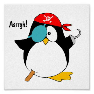Pirate Penguin Poster