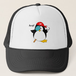 Pirate Penguin Trucker Hat
