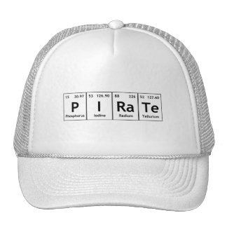 PIRaTe Periodic Table Elements Word Chemistry Atom Cap
