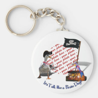Pirate Photo Frame Basic Round Button Key Ring