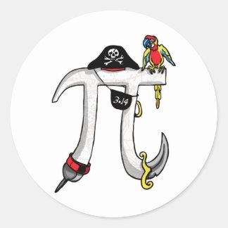 Pirate Pi Day Gear Classic Round Sticker