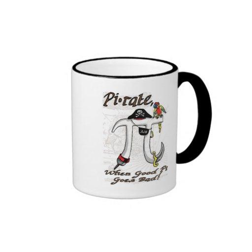 Pirate Pi Day Gear Mugs