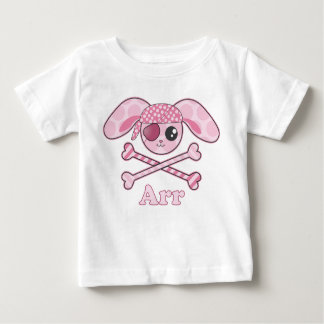 Pirate Pink Kawaii Bunny Baby T-Shirt