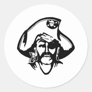 Pirate Pirates Round Sticker