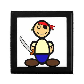 Pirate (plain) small square gift box