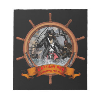 Pirate plundering the seas. notepad