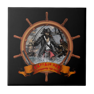 Pirate plundering the seas. tile
