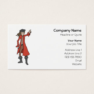 Pirate, pointing into the distance. business card