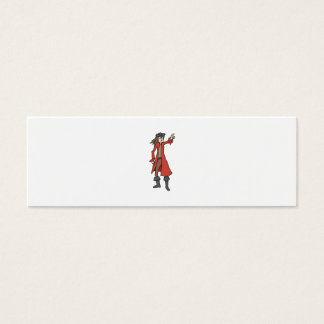 Pirate, pointing into the distance. mini business card