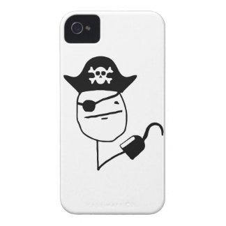 Pirate poker face - meme Case-Mate iPhone 4 case