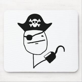 Pirate poker face - meme mouse pad