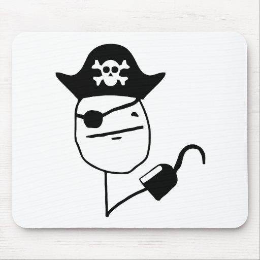 Pirate poker face - meme mousepad