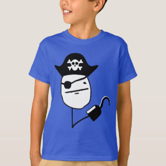 Pirate poker face - meme t-shirts