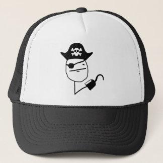 Pirate poker face - meme trucker hat