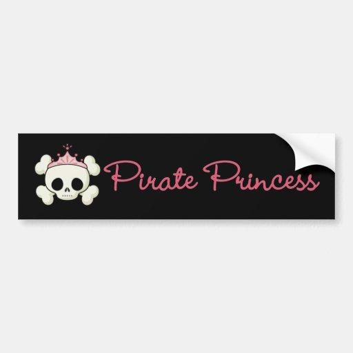 Pirate Princess Bumper Stickers