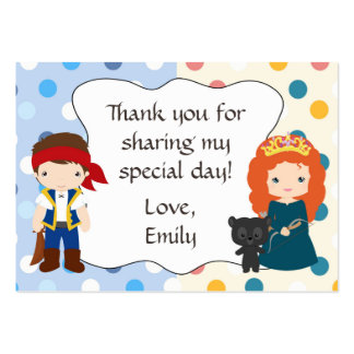 Pirate Princess Gift Favor Tag Label Wild Pack Of Chubby Business Cards