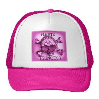 PIRATE PRINCESS SKULLY PINK PRINT CAP