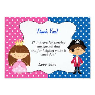 Pirate Princess Thank You Card - Boy 13 Cm X 18 Cm Invitation Card