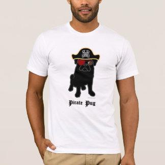 Pirate Pug - Black T-Shirt