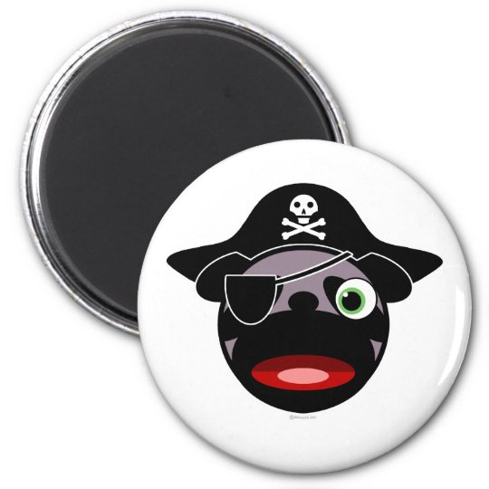 pirate pug magnet