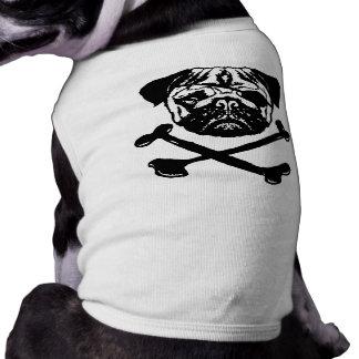 Pirate Pug Sleeveless Dog Shirt