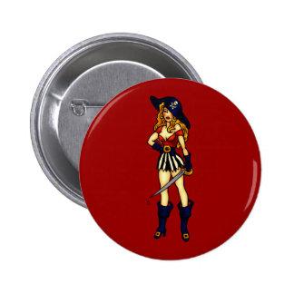 Pirate Queen 6 Cm Round Badge