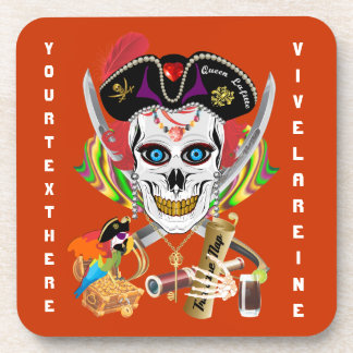 Pirate Queen Lafitte All Styles View Hints Beverage Coasters