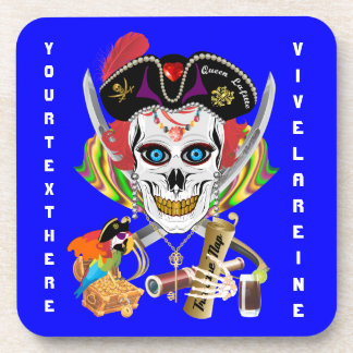 Pirate Queen Lafitte All Styles View Hints Drink Coasters