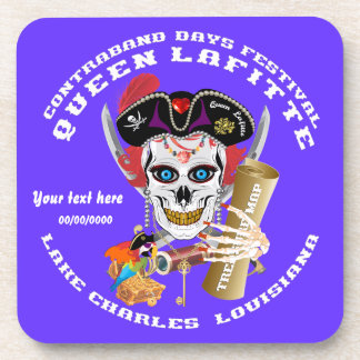 Pirate Queen Lafitte Important View About Design Beverage Coasters