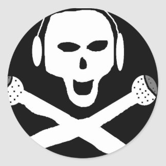 PIRATE RADIO CLASSIC ROUND STICKER