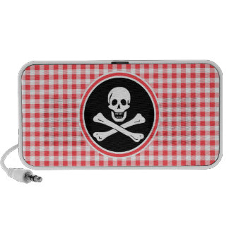 Pirate; Red and White Gingham Mini Speakers