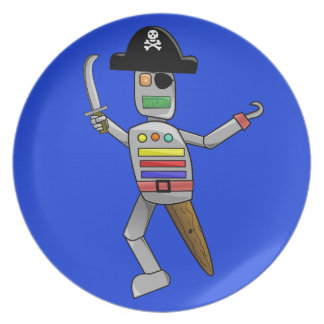 Pirate Robot Plate